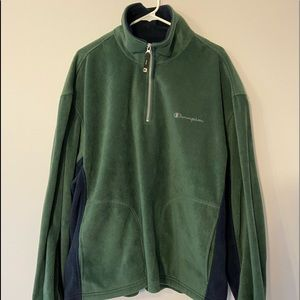 XL Champion Green/Blue Fleece